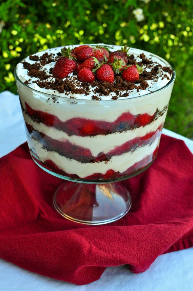 Strawberry Trifle ~ Lightened