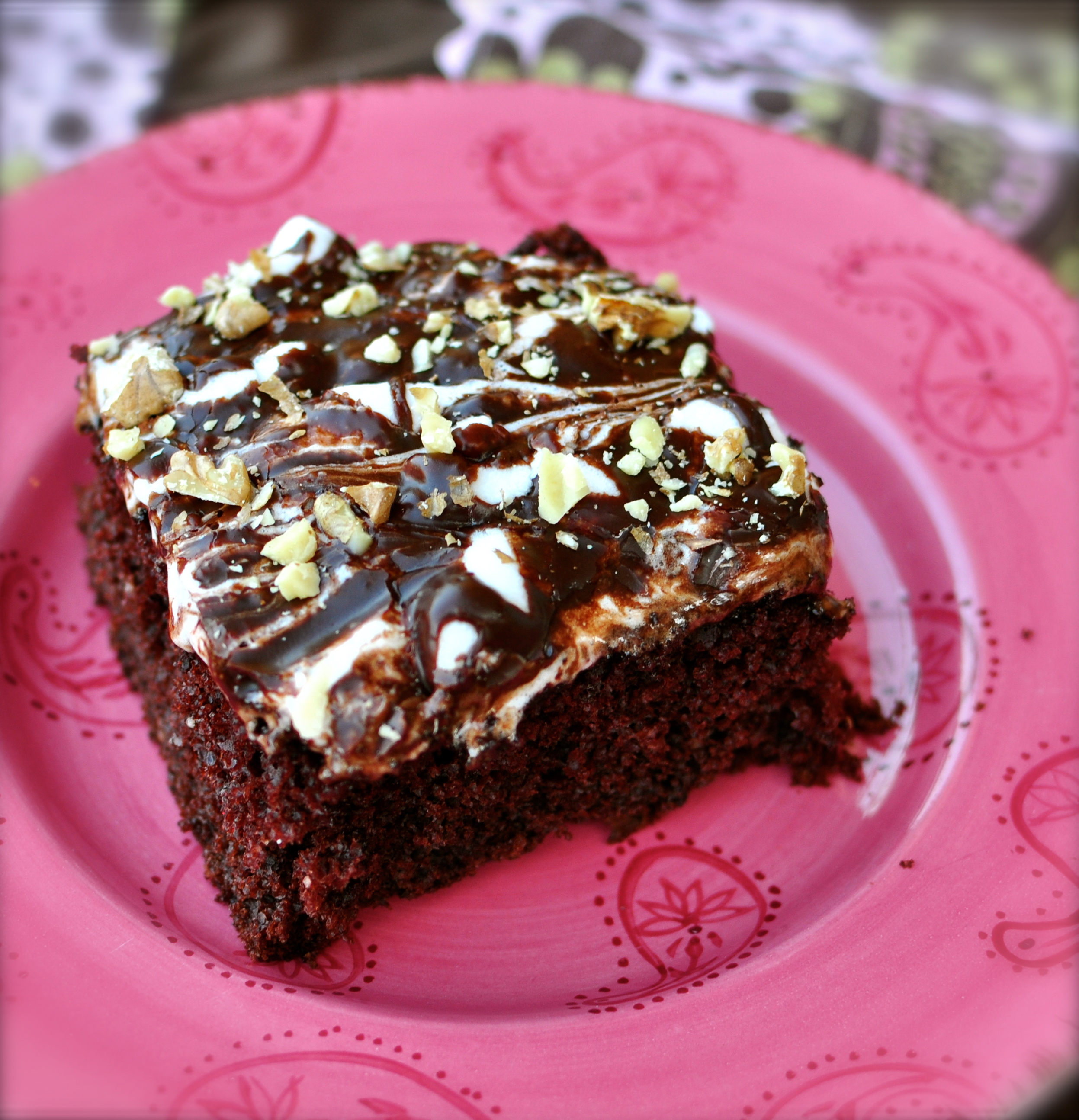 Lightened Mississippi Mud Cake
