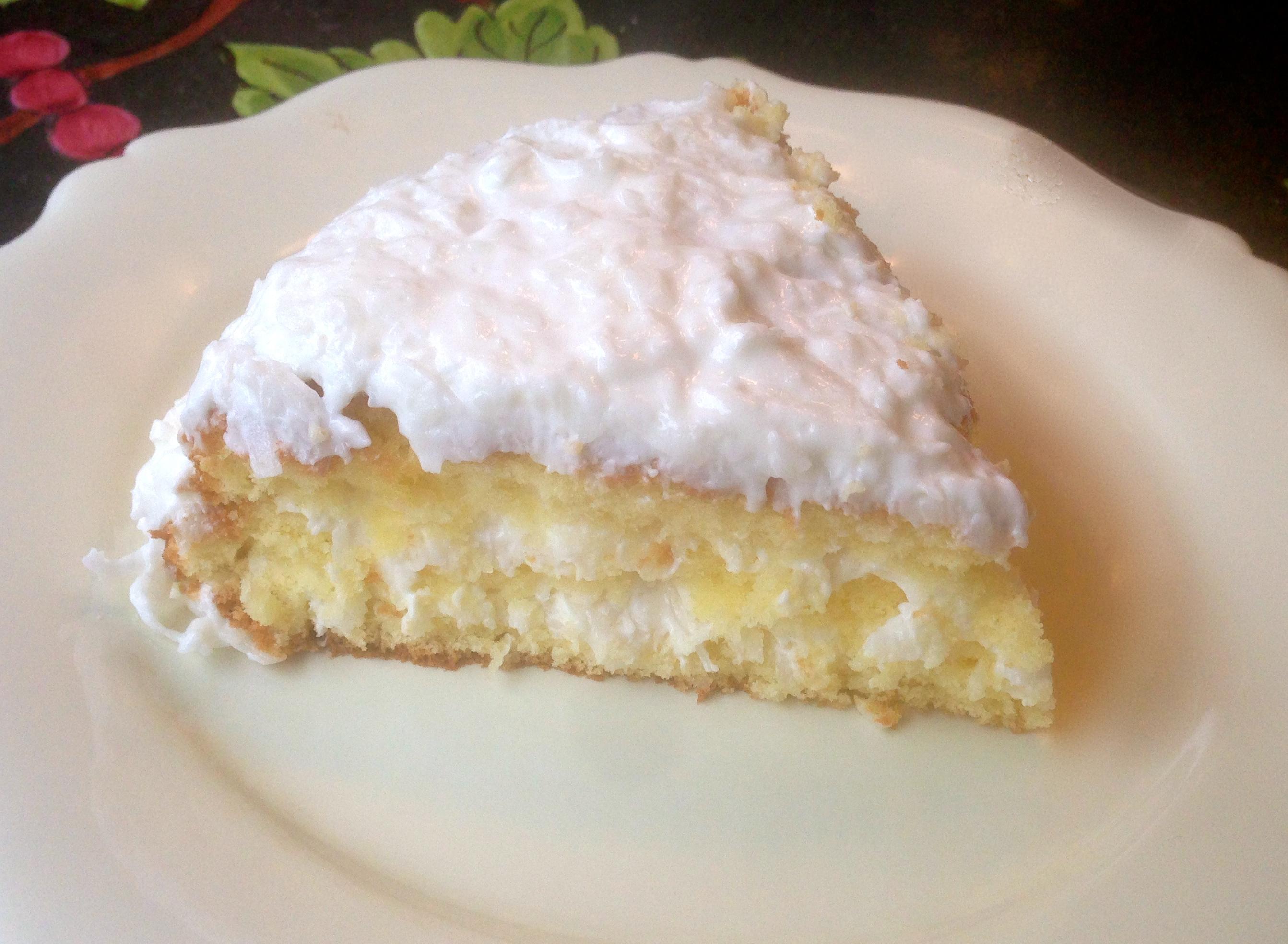 Lemon Coconut Cake Recipe Sour Cream